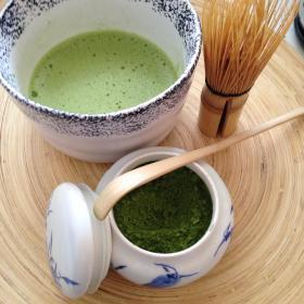 Фото: Оригинальный порошкообразный японский зеленый чай «Матча».