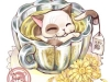 Фото: Хризантемовая чай-кошка.